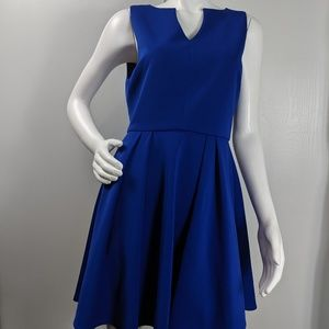 Nordstrom Arloh fit n flare vneck lined dress sz L